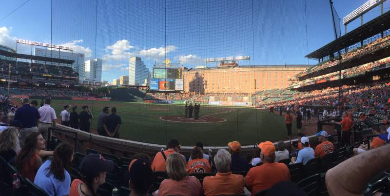 Seating view for Oriole Park at Camden Yards Section 40 Row 6 Seat 7