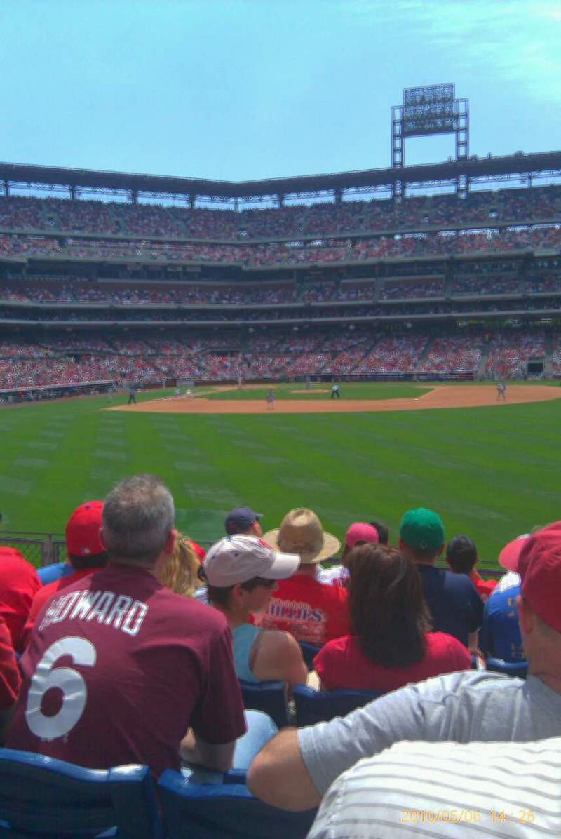 Seating view for Citizens Bank Park Section 103 Row 7 Seat 17