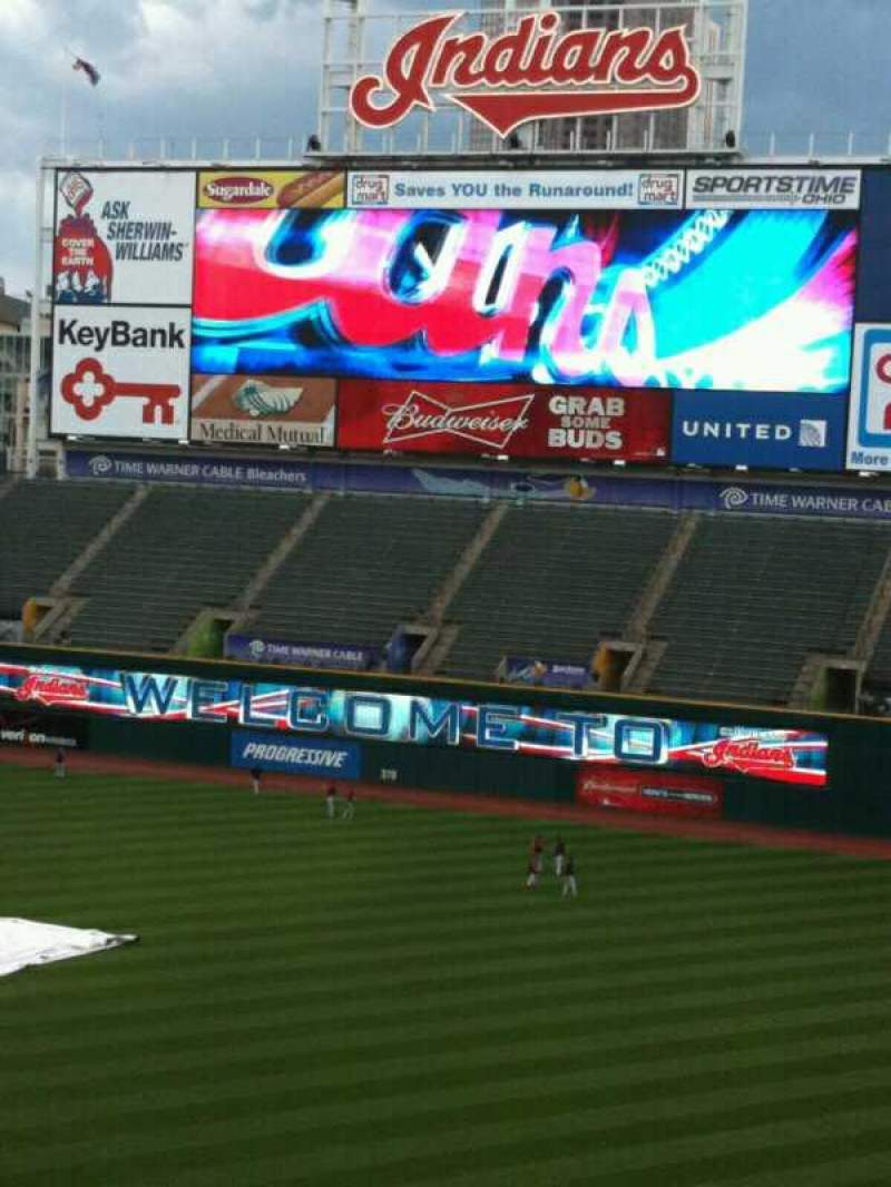 Seating view for Progressive Field Section Suite 312 Row A