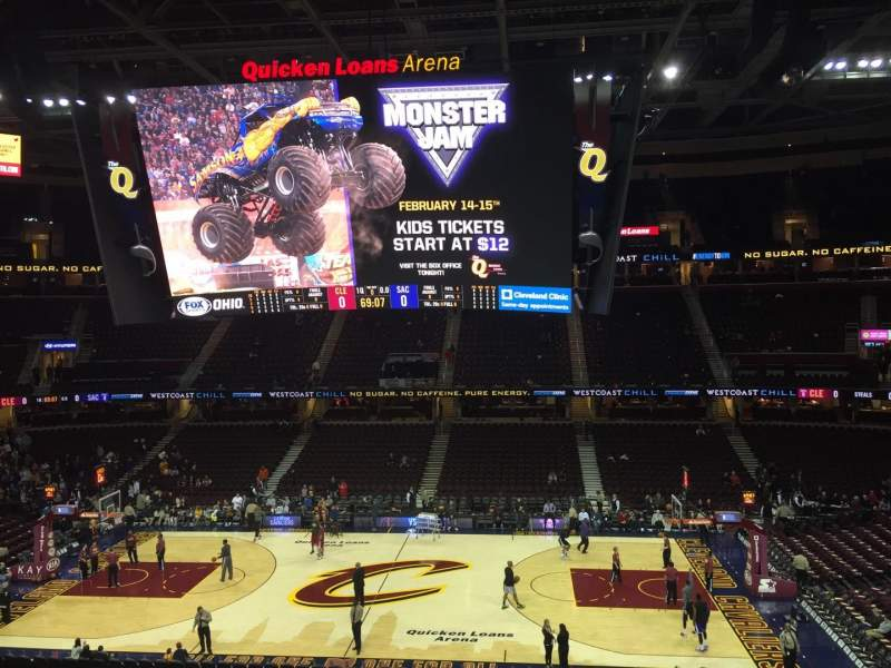 Seating view for Quicken Loans Arena Section C109 Row 26 Seat 11