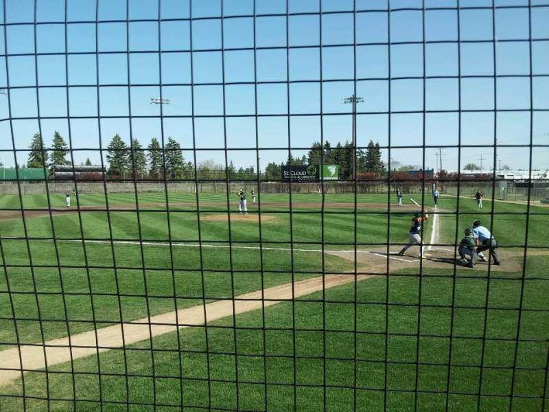Seating view for Dick Putz Field Section 101 Row 1 Seat 10