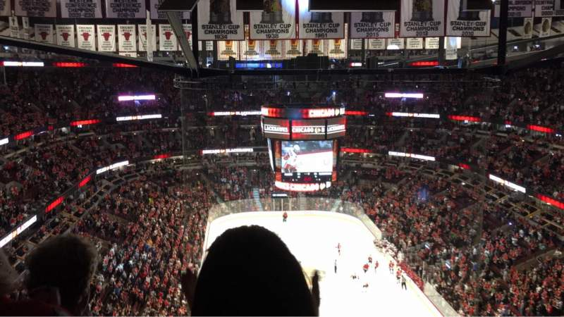 Seating view for United Center Section 310 Row 16 Seat 8