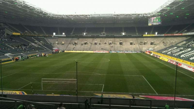 Seating view for Borussia Park Section 4 Row 26 Seat 1