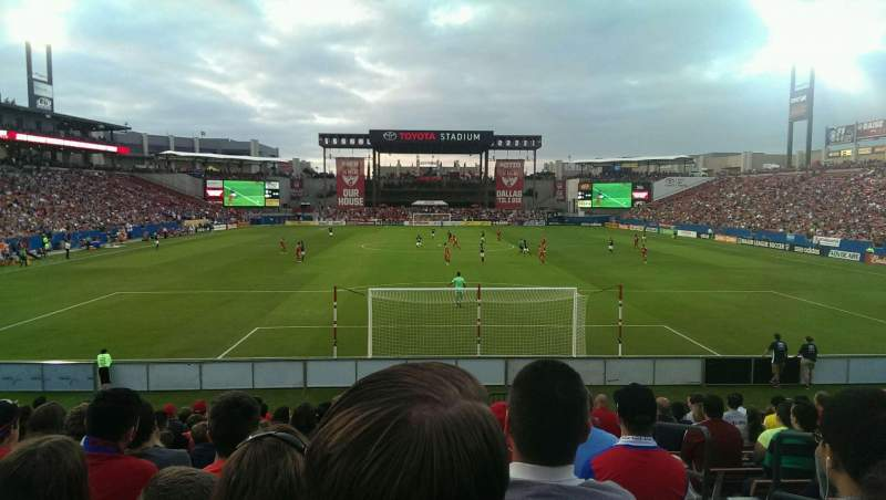 Seating view for Toyota Stadium Section 116 Row 14 Seat 22