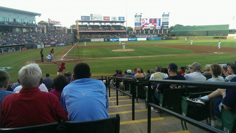 Seating view for Dell Diamond Section 121 Row 12 Seat 22