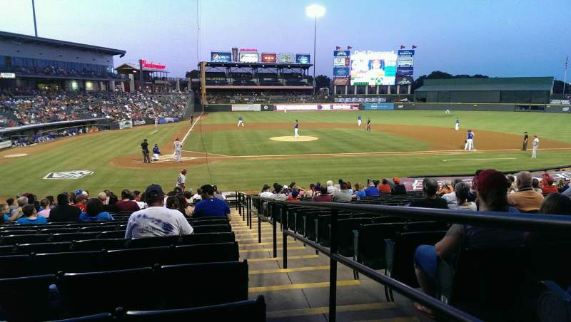 Seating view for Dell Diamond Section 121 Row 21 Seat 25