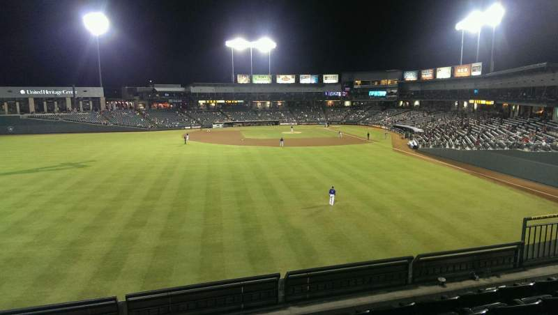 Seating view for Dell Diamond Section Home Run Porch Row 5 Seat 9