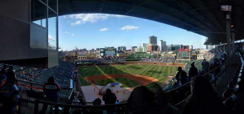 Seating view for Wrigley Field Section 420R Row 2 Seat 4