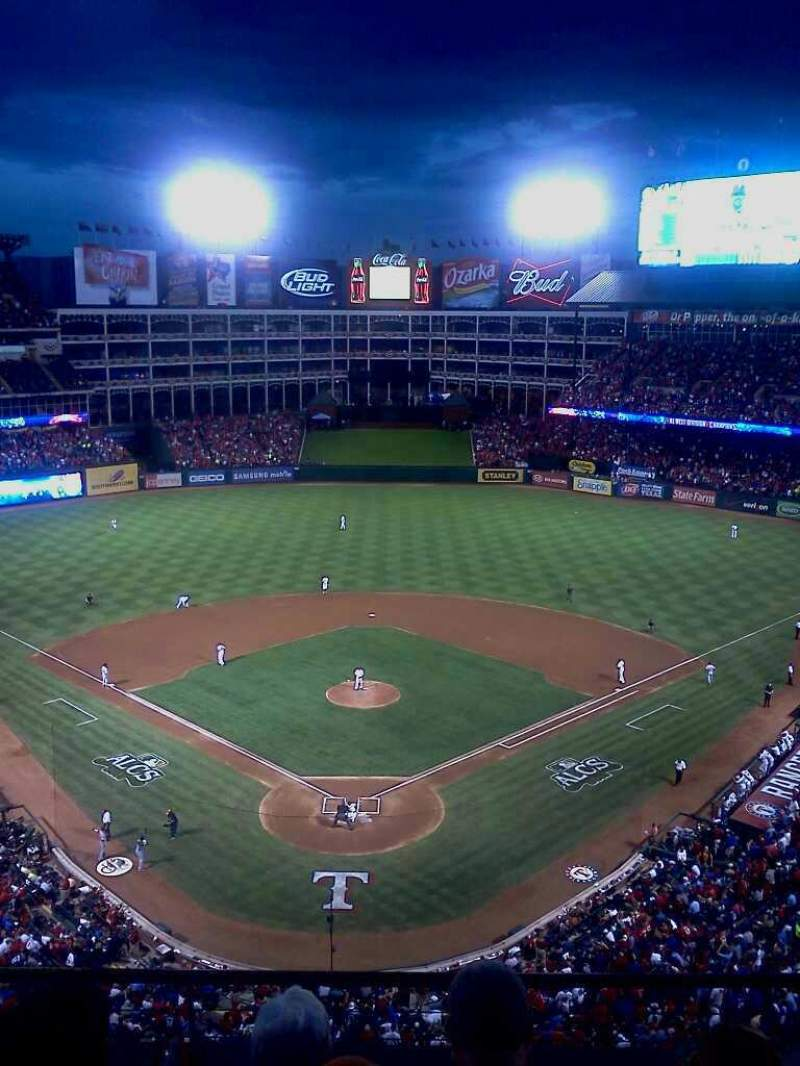 Seating view for Globe Life Park in Arlington Section 326 Row 4 Seat 15