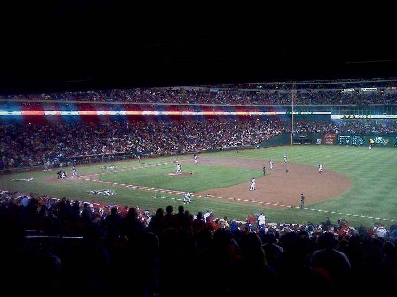 Seating view for Globe Life Park in Arlington Section 136 Row 39 Seat 18