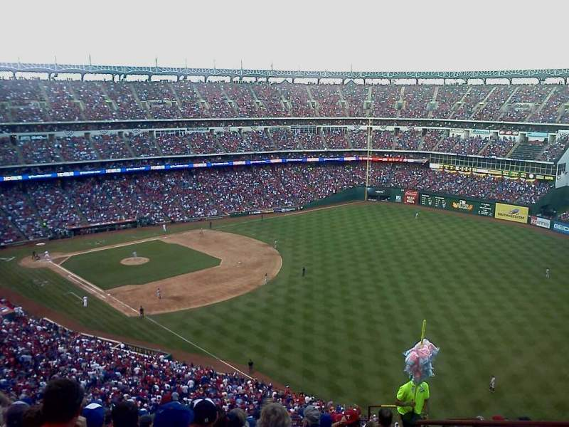 Seating view for Globe Life Park in Arlington Section 341 Row 13 Seat 16