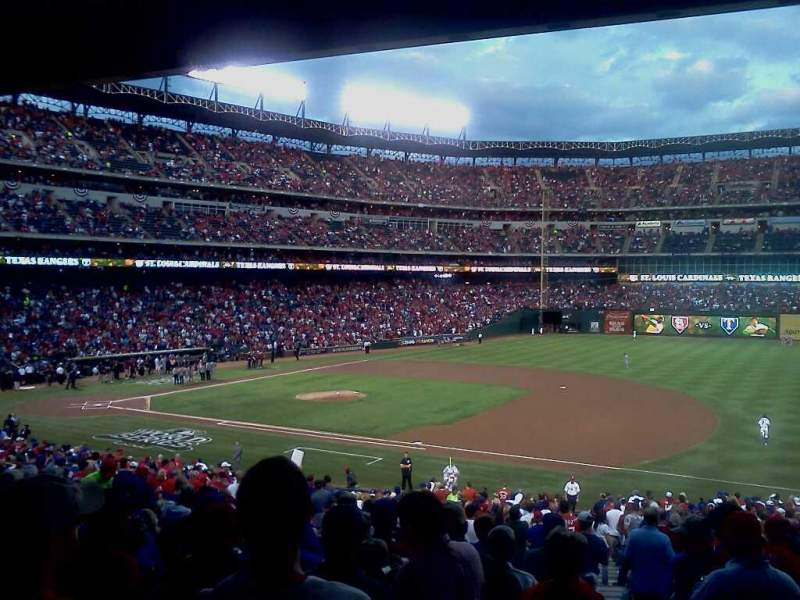 Seating view for Globe Life Park in Arlington Section 136 Row 33 Seat 5