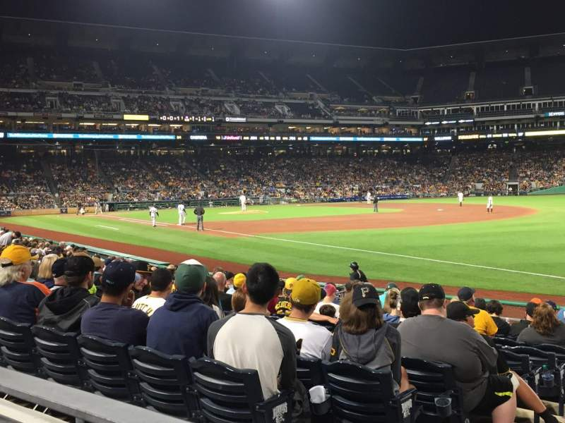 Seating view for PNC Park Section 103 Row A Seat 8