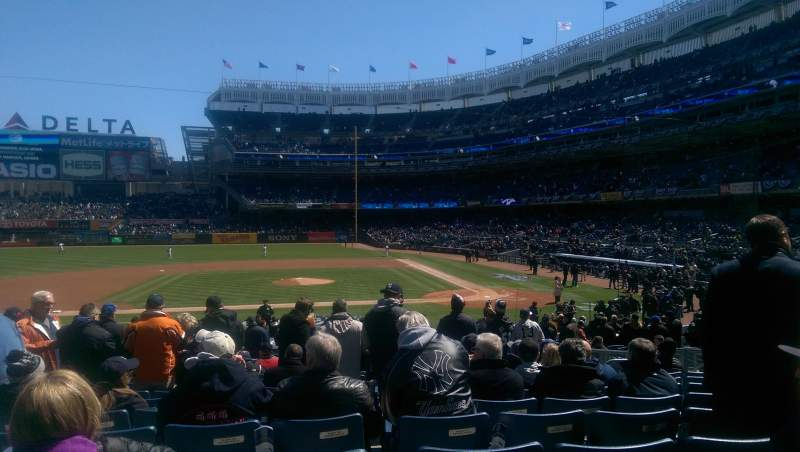 Seating view for Yankee Stadium Section 123 Row 13 Seat 6