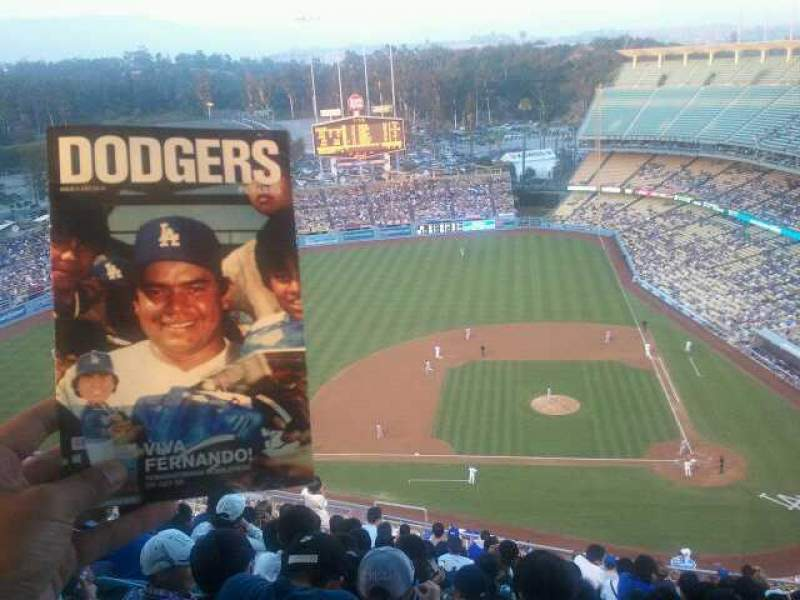 Seating view for Dodger Stadium Section 15RS Row R Seat 8
