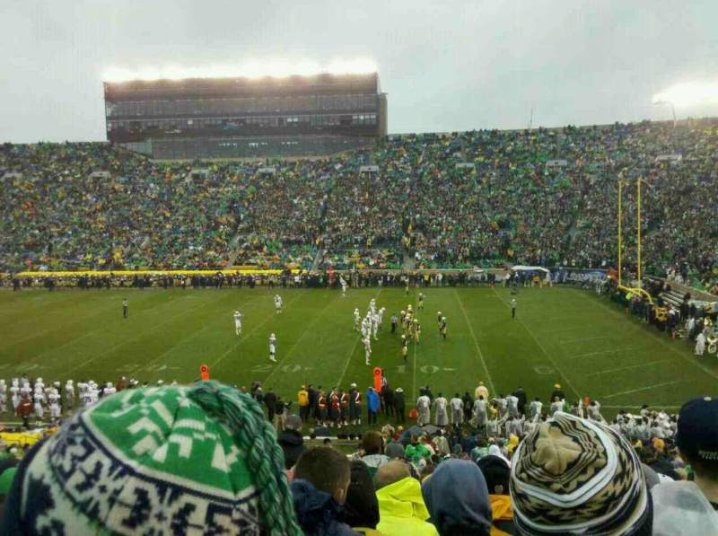 Seating view for Notre Dame Stadium Section 7 Row 45 Seat 10