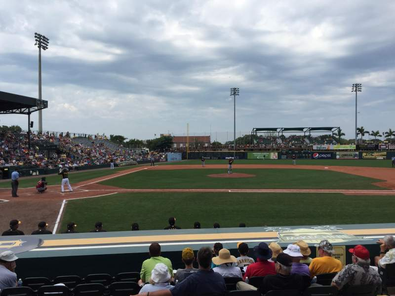 Seating view for McKechnie Field Section 8 Row 3 Seat 13
