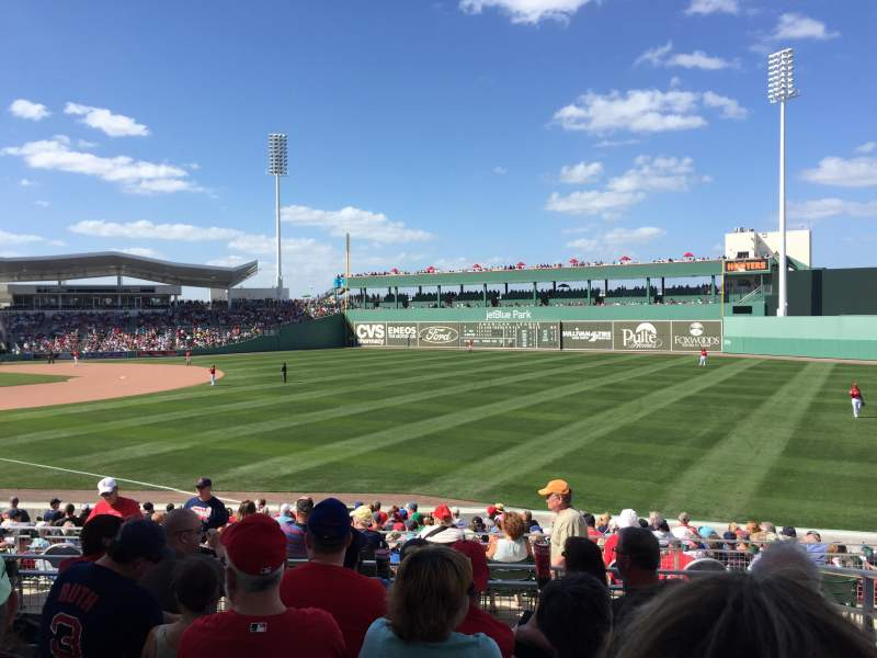 Seating view for JetBlue Park Section 219 Row 6 Seat 4