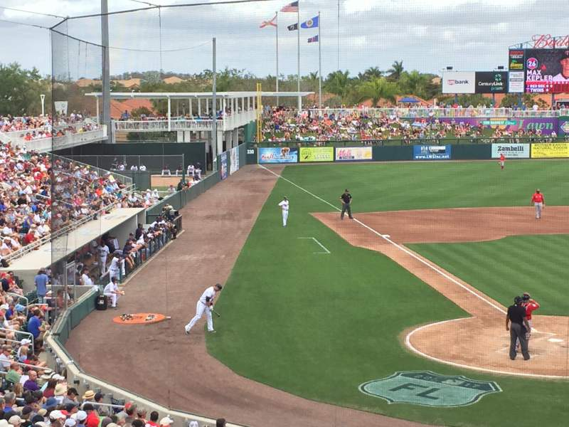Seating view for Hammond Stadium Section 207 Row 7 Seat 7