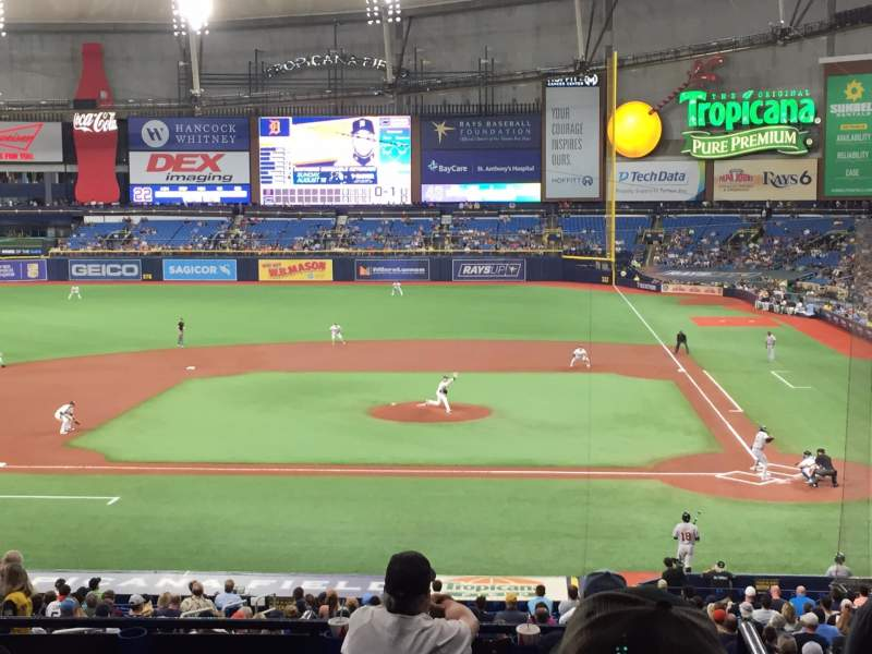 Seating view for Tropicana Field Section 111 Row RR Seat 9