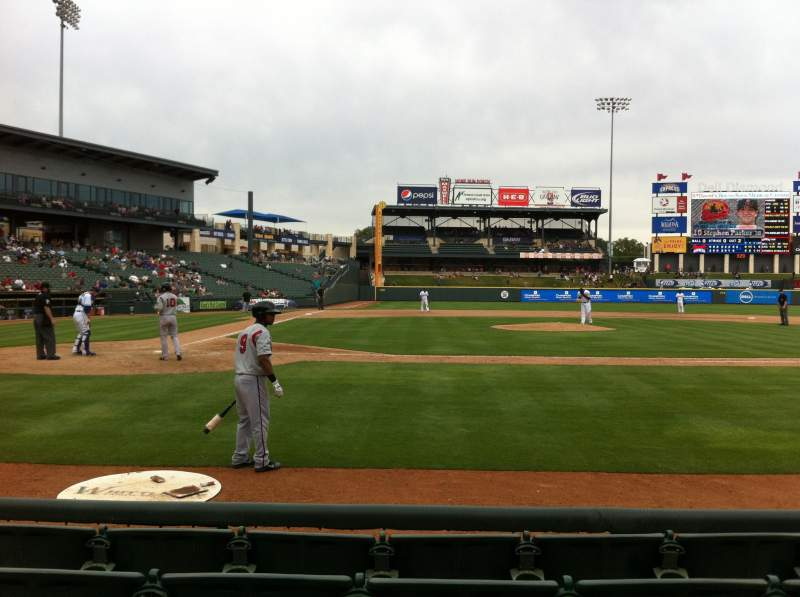 Seating view for Dell Diamond Section 122 Row 5 Seat 5