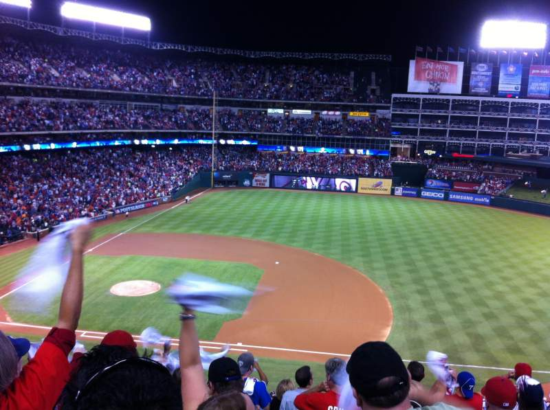 Seating view for Globe Life Park in Arlington Section 235 Row 10