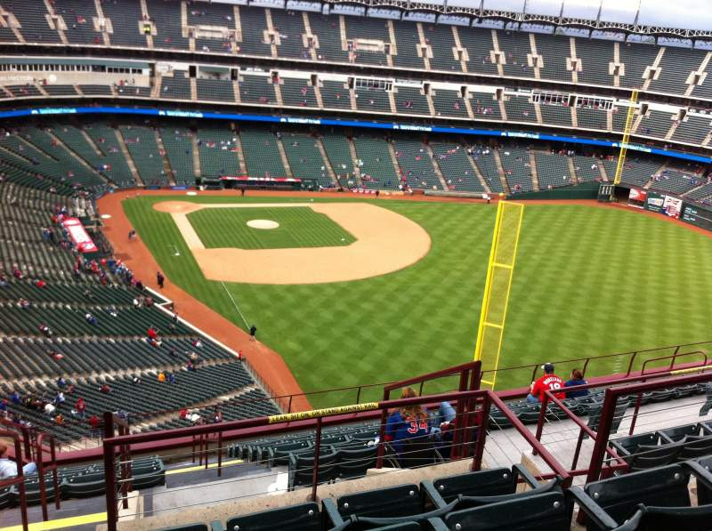 Seating view for Globe Life Park in Arlington Section 344 Row 15 Seat 1