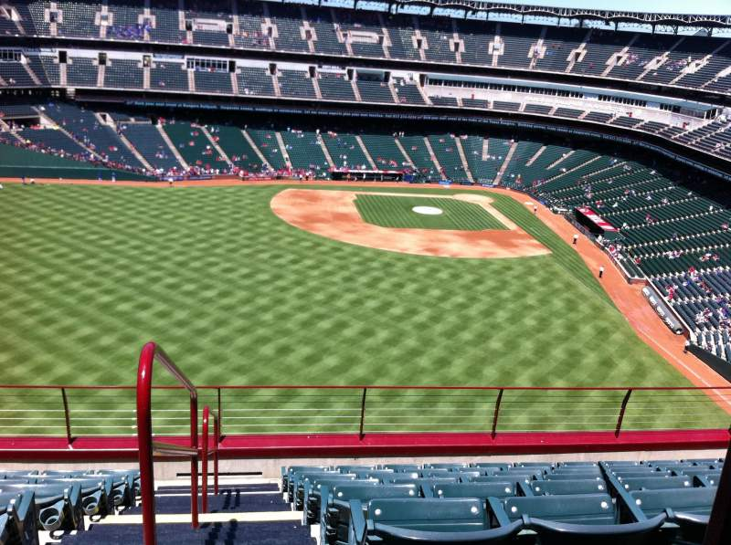 Seating view for Globe Life Park in Arlington Section 302 Row 7 Seat 1