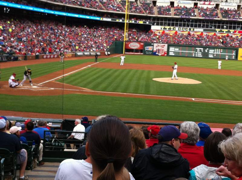 Seating view for Globe Life Park in Arlington Section 32 Row 15 Seat 1