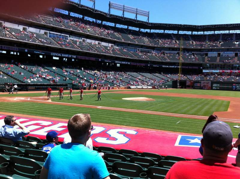 Seating view for Globe Life Park in Arlington Section 33 Row 10 Seat 16