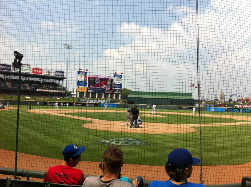 Seating view for Dell Diamond Section 119 Row 4 Seat 16