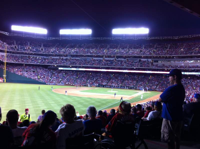Seating view for Globe Life Park in Arlington Section 3rd Base SRO