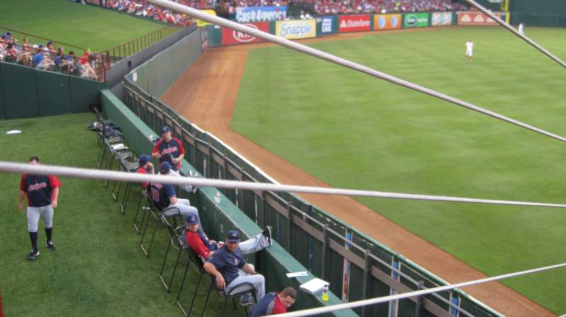 Seating view for Globe Life Park in Arlington Section 3 Row 5 Seat 1