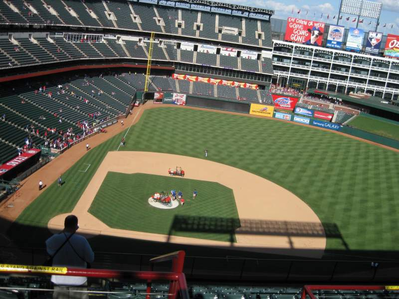 Seating view for Globe Life Park in Arlington Section 332 Row 14 Seat 5