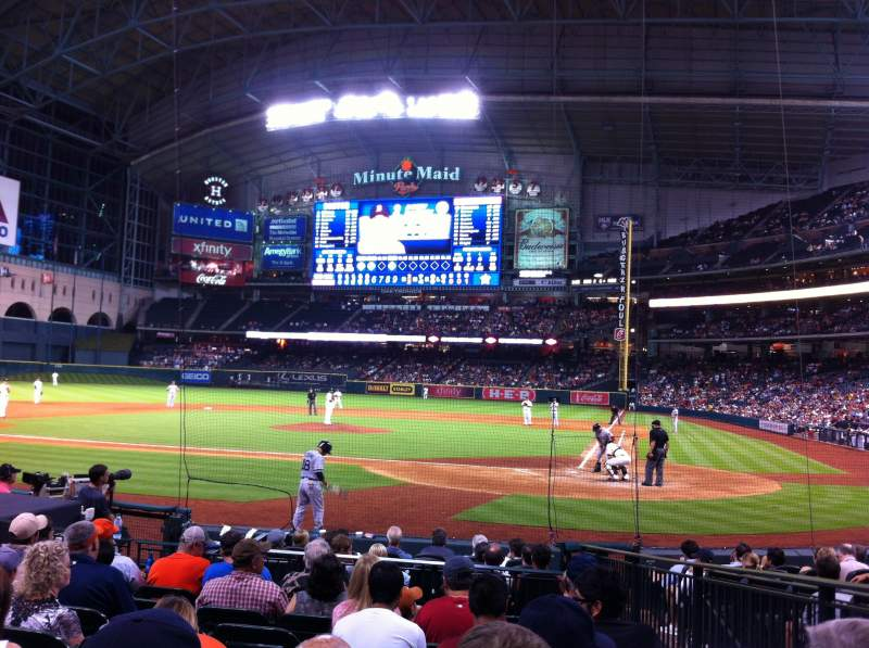 Seating view for Minute Maid Park Section 116 Row 13 Seat 16
