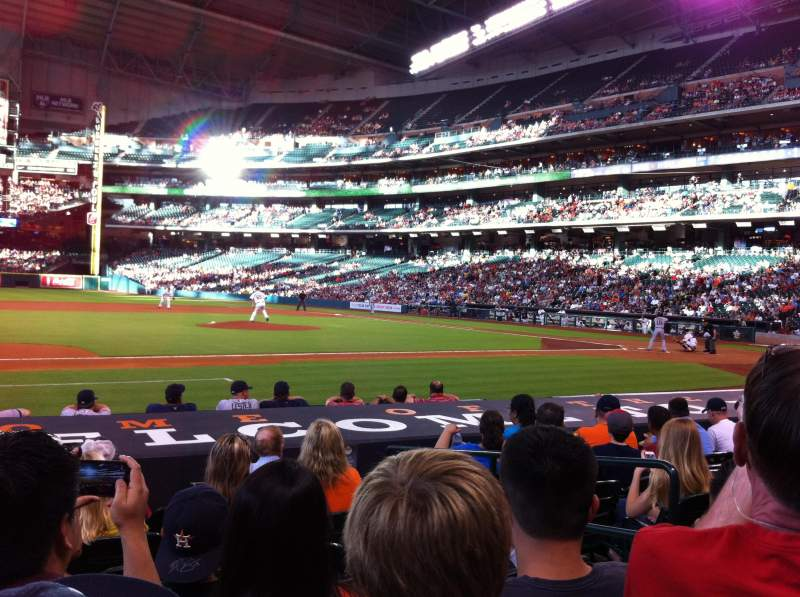 Seating view for Minute Maid Park Section 112 Row 11 Seat 13