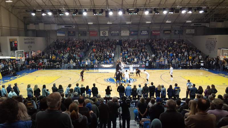 Seating view for Kaiser Permanente Arena Section J Row 15 Seat 1