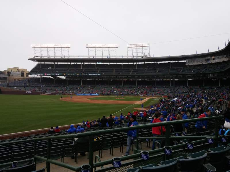 Seating view for Wrigley Field Section 101 Row 6 Seat 7