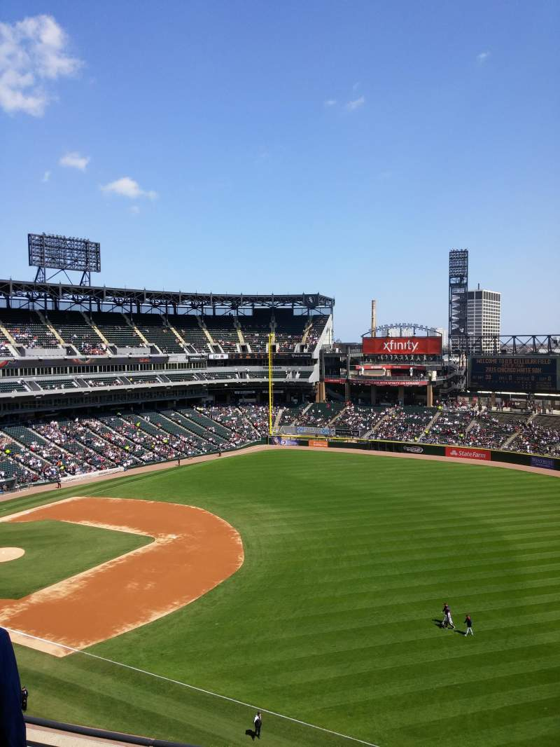 Seating view for Guaranteed Rate Field Section 516 Row 5 Seat 4