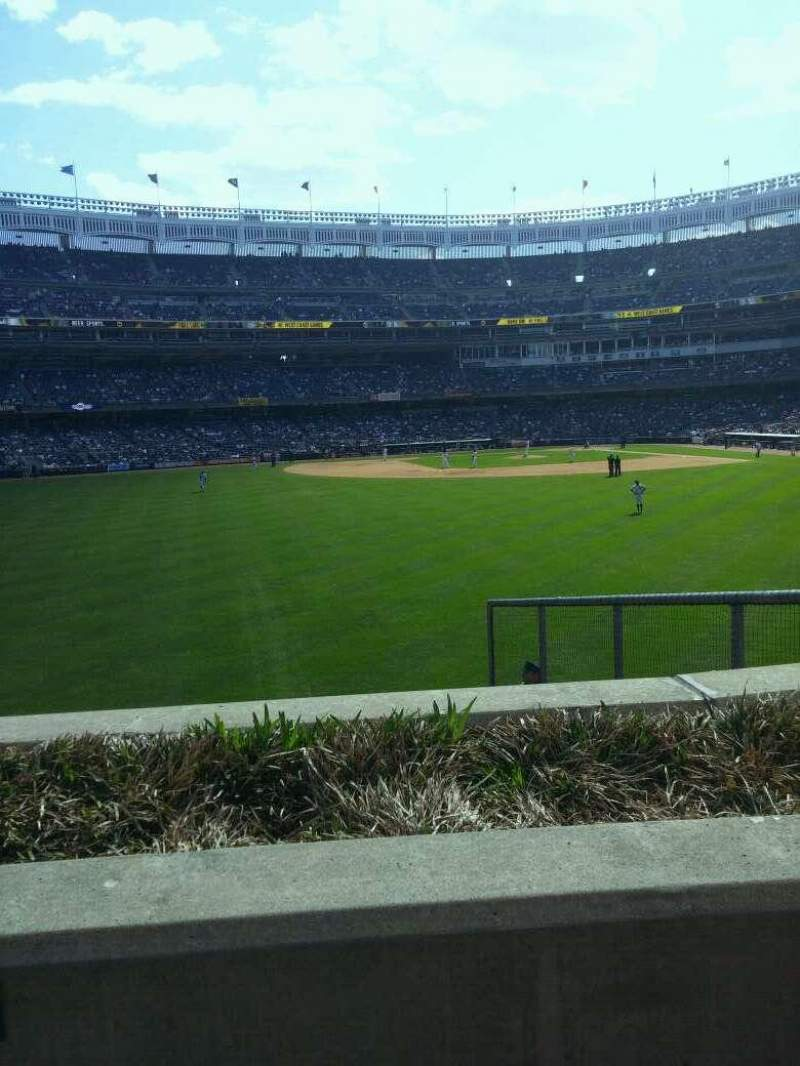 Seating view for Yankee Stadium Section 137 Row 1 Seat 7