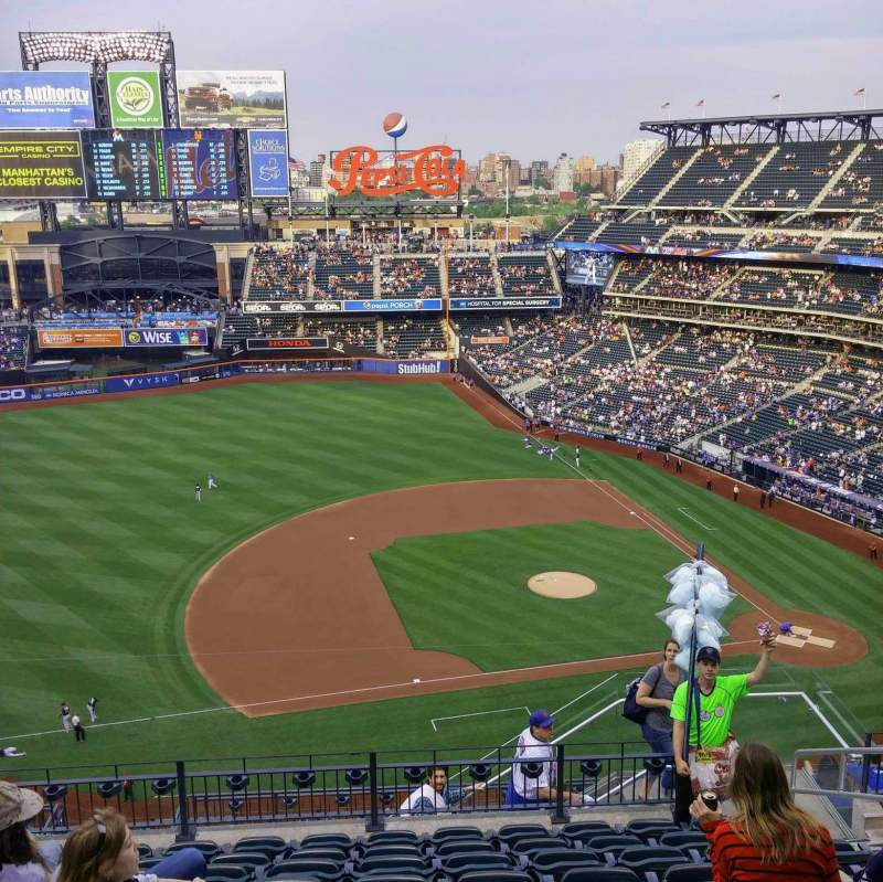 Seating view for Citi Field Section 522 Row 8 Seat 6
