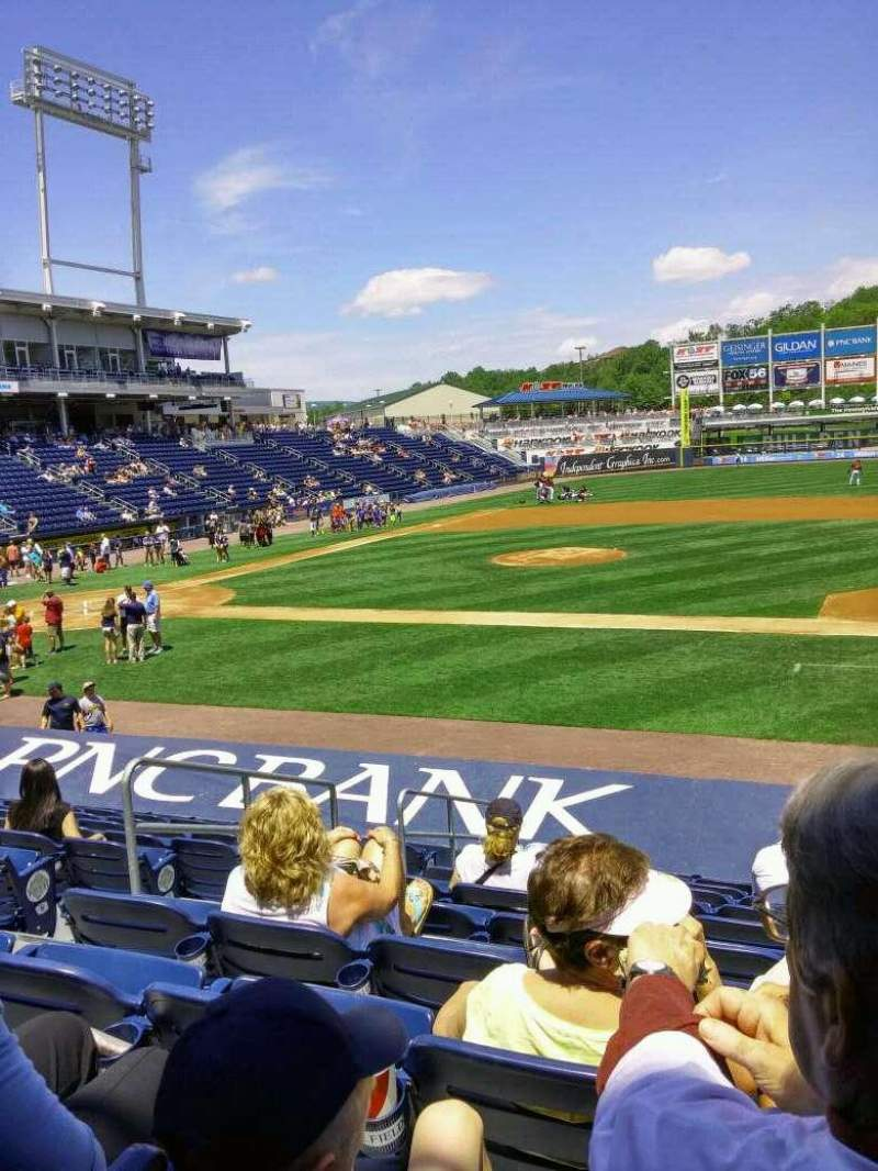 Seating view for PNC Field Section 16 Row 10 Seat 12