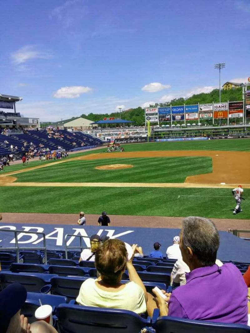 Seating view for PNC Field Section 16 Row 12 Seat 10