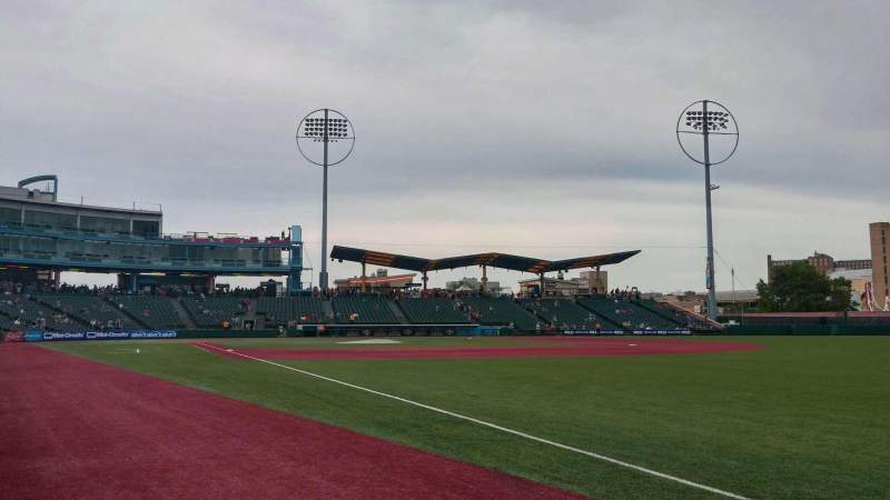 Seating view for MCU Park Section 24 Row AA Seat 3