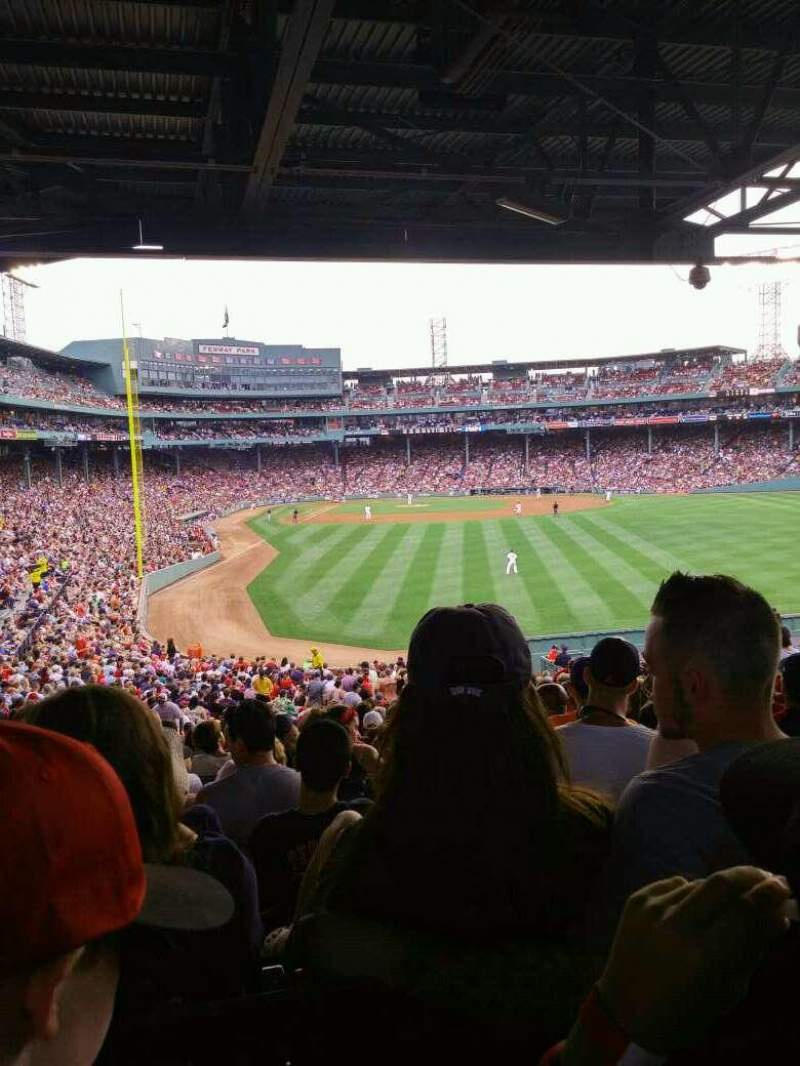 Seating view for Fenway Park Section 12 Row 12 Seat 12