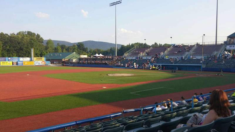 Seating view for Dutchess Stadium Section 111B Row J Seat 1