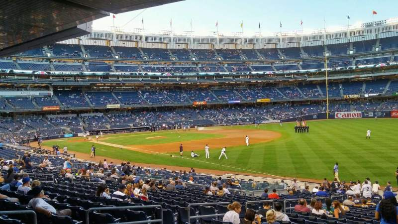 Seating view for Yankee Stadium Section 110 Row 28 Seat 7
