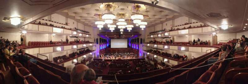 Seating view for The Kennedy Center Concert Hall Section Tier 1 Row C Seat 110