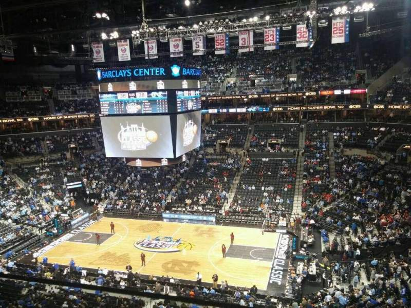 Seating view for Barclays Center Section 222 Row 1 Seat 17