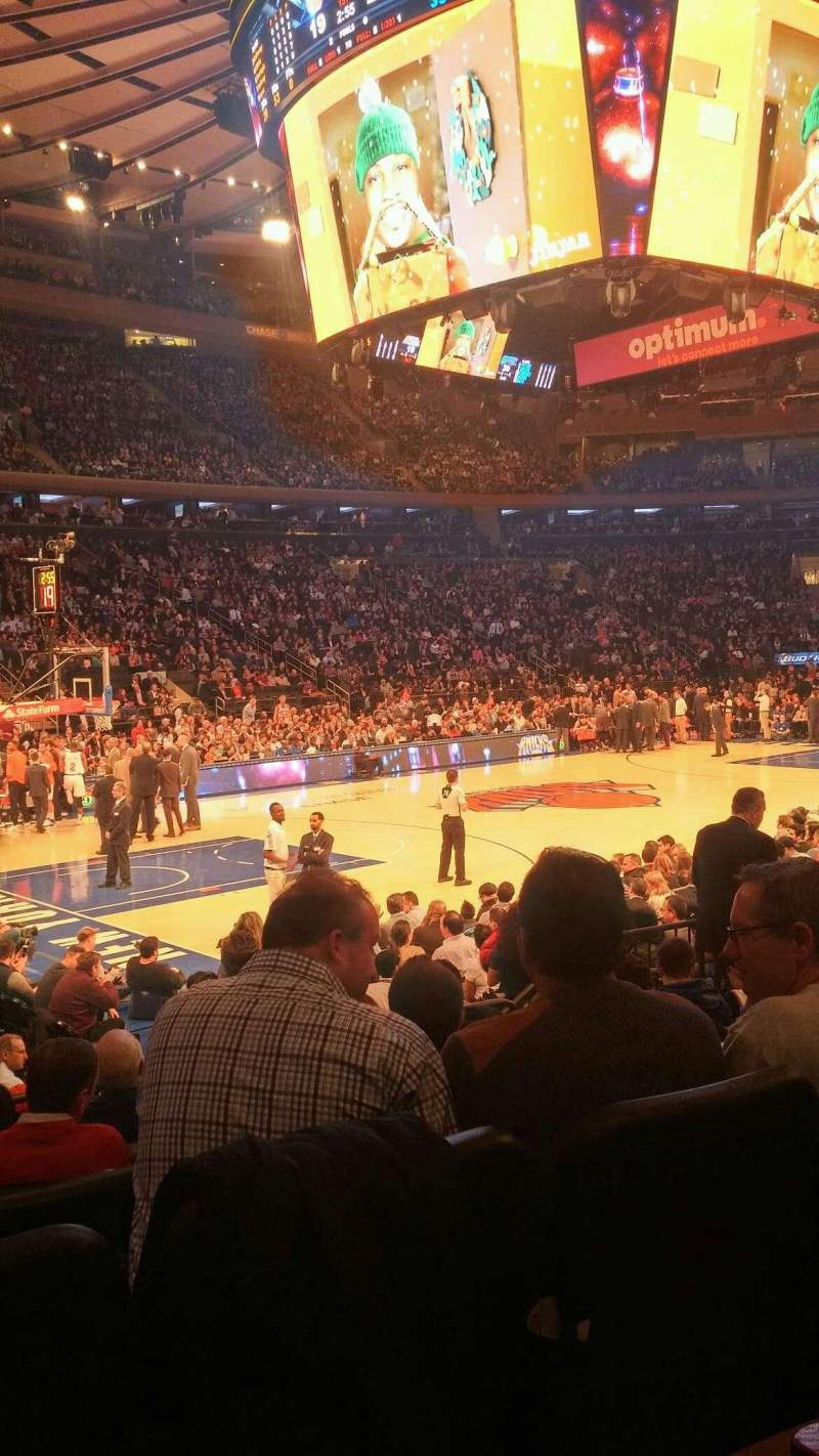 Seating view for Madison Square Garden Section 115 Row 7 Seat 6